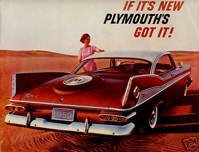 1959 Plymouth Sport Fury, Refrigerator Magnet, 40 MIL