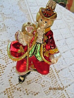 """POLONAISE BLOWN GLASS ORNAMENT TEN LORDS A LEAPING  12 days of CHRISTMAS 7"""""""