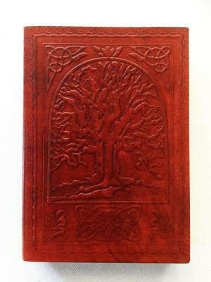 Tree Of Life Journal Book Of Shadows Leather Bound, Blank Pages