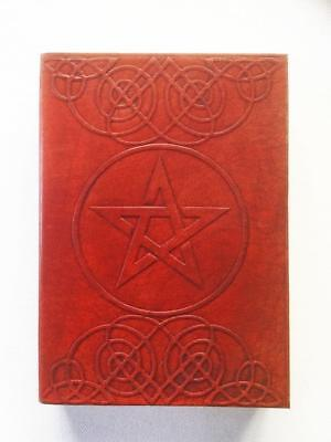 Book Of Shadows Journal Pentagram / Pentacle Leather Bound, Blank Pages