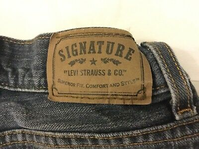 Boys Levis Signature Blue Jeans Size 8 Slim Straight Fit Great Condition