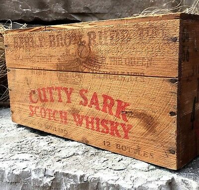 Cutty Sark Scotch Whisky Wooden Crate From Scotland. No Reserve - Huh?!?