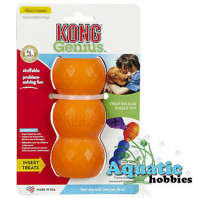 Kong Genius Mike Treat Release Dispensing Puzzle Chew Toy Dog Puppy Choose Size
