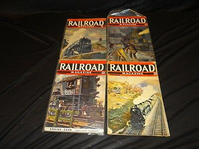 Vintage Railroad Magazine Lot of 4 March Oct 1943 Feb March 1944