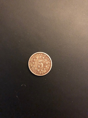 1875 Shield Nickel 5c Five Cents US COIN
