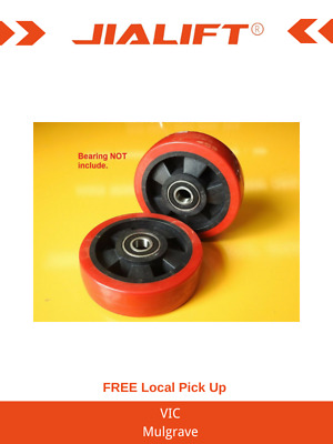 2xFront Roller Wheels 125*40mm for Scissor Table Lift Including Bearings
