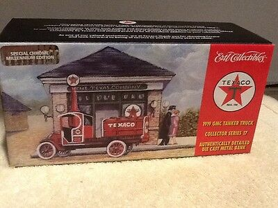Texaco 1919 GMC Tanker Truck diecast bank - collector series #17 Chrome Edition
