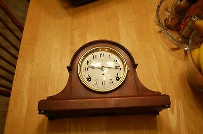 Antique Seth Thomas Mantel Clock Made In Usa, 8 Day, Time And Strike, Key Wind