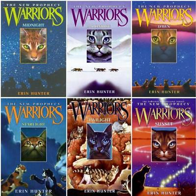 Erin Hunter WARRIORS: NEW PROPHECY Childrens Fantasy Series HARDCOVER Set 1-6