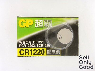 GP 3V CR 1220 CR1220 ECR1220 DL1220 Button Coin Cell Battery Made in Japan