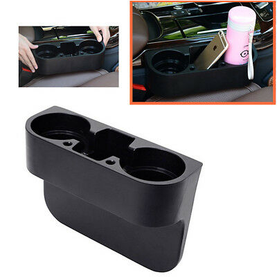 One Set Black 2 Cup Holder Drink Beverage Seat wedge Auto Car Truck Useful