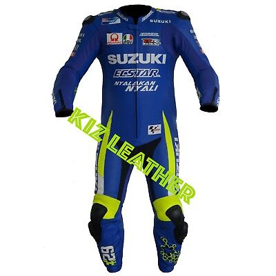 SUZUKi GSXR MOTOGP Motorcycle and Motorbike Racing Cowhide Leather Suit