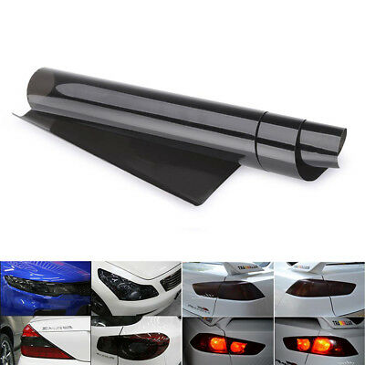 CA PVC black Car Headlight  Tint Film Fog Tail Light Wrap protector 30 x120cm