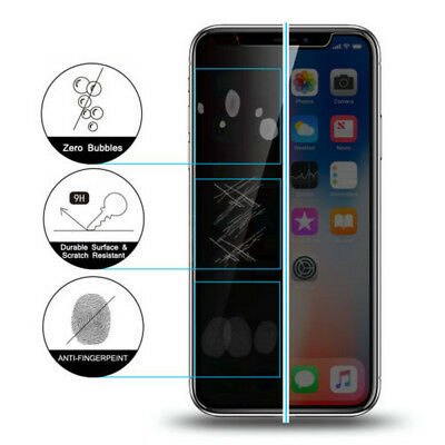 Anti-Spy Privacy Shield Tempered Glass Screen Protector For iPhone X 8 7 6 Plus