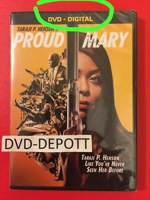 Proud Mary DVD + DIGITAL **AUTHENTIC READ** Brand New FAST Free Shipping NO TAX