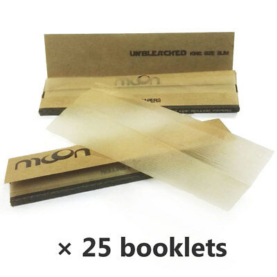 Moon Unbleached Cigarette Rolling Papers 108*45mm 25 booklets=800 leaves Smoking