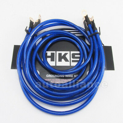 5 Point Blue Grounding Kit Super Power Earth Cable Wire Performance Universal