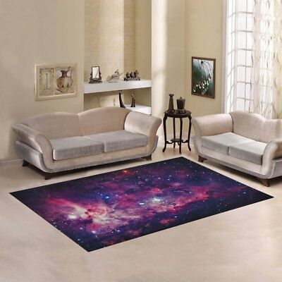Custom Space Galaxy Area Rug 7'x5' Indoor Soft Mat Ship From US