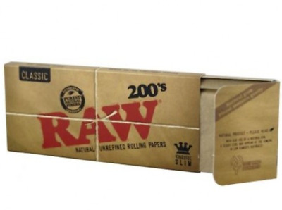 Raw 200s King-Size Slim Rolling Papers Packs original authentic organic real