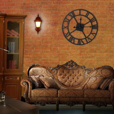 European Style Vintage Wrought-iron Indoor Wall Clock With Roman Numerals PR
