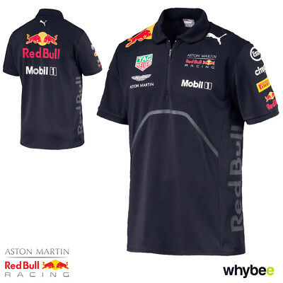 New! 2018 Red Bull Racing Formula One Team Mens Polo Shirt Navy Official Puma F1