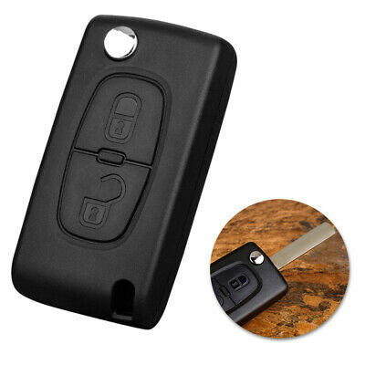 2 Button Replacement Flip Key Fob Case Blade Shell For PEUGEOT 207 307 308 407