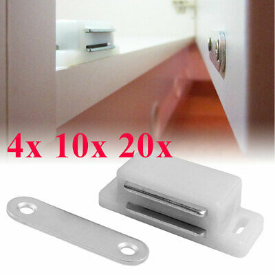 Lot Plastic Magnetic Door Catches Kitchen Cupboard Wardrobe Cabinet Latch Catch