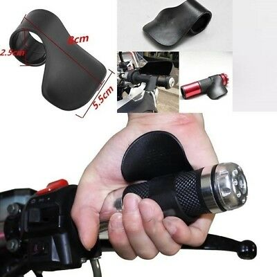 General Motorcycle Throttle Assist Clamp Aid Cruise Control Handlebar Grip Black