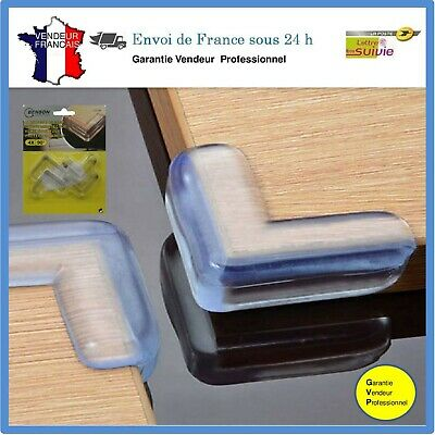 4 X Protection d'angle Protecteur coin meuble silicone transparent Protège coin