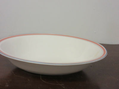 """Royal Doulton Dusty Rose Line fine china 1-oval vegetable bowl 10 3/4""""long new"""