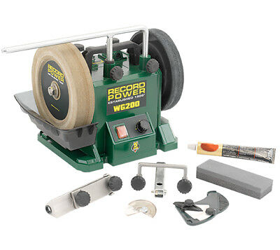 """Record Power WG200-PK/A WG200 8"""" Wet Stone Sharpening System Package Deal"""