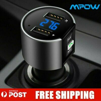 Wireless Bluetooth Car Kit FM Transmitter Radio MP3 Player USB Charger Music LCD