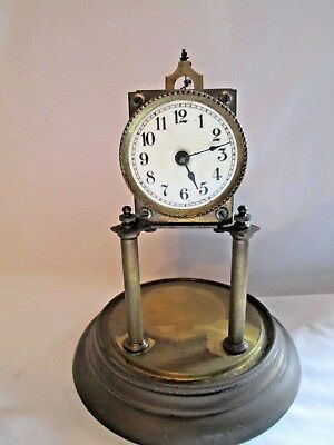 Antique OLD GERMAN CARRIAGE/ SKELETON  mantle CLOCK  ,SPARES / REPAIR PROJECT