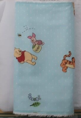 Winnie The Pooh & Friends Burp Cloth * Toweling Back *Blue *. Great Baby Shower