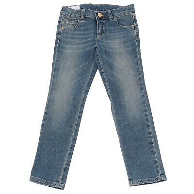 5714V pantaloni bimba GUCCI blu washed jean girl kid
