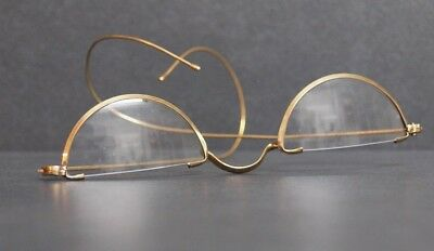 10er 20er 30er Jahre antike Brille Nickelbrille Gold Lesebrille Reading Glasses
