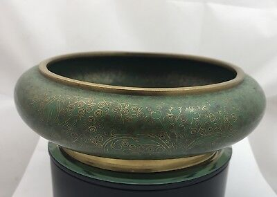 Quality 19th Century Chinese Cloisonné Bowl Signed No Reserve