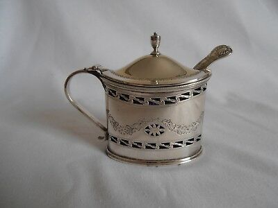 Superb Scottish Silver Mustard Pot. Made By Hamilton & Inches Of Edinburgh. 1925