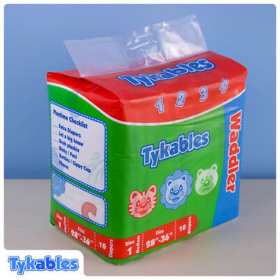 Adult Nappy / Tykables Waddler - Size 2 (Large) - Pack of 10