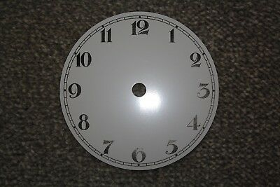 "New Aluminium Clock Dial/Face 5""/128mm White with Black Arabic Numerals"