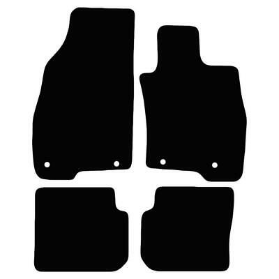 Tailored Black Car Floor Mats Carpets 4pc Set with Clips for Alfa Romeo Mito