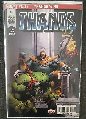 Thanos #15 First Print SIGNED by DONNY CATES Cosmic Ghostrider Identity revealed