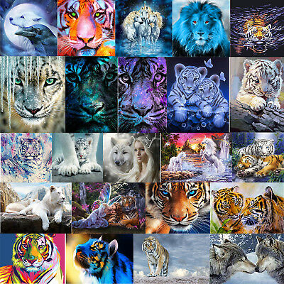 5D Löwe DIY Tiger Diamant Malerei Stickerei Diamond Painting Kreuzstich Handwerk