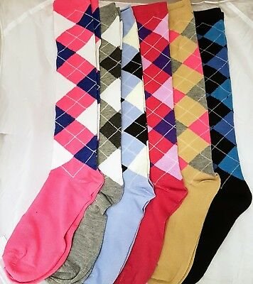Ladies Pringle Design Knee High Socks,UK 4-7, Riding Socks, funky, casual, sock