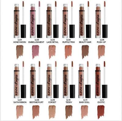 NYX Lip 12 Shades are optional Matte Liquid Lipstick Waterproof Lip Gloss Makeup