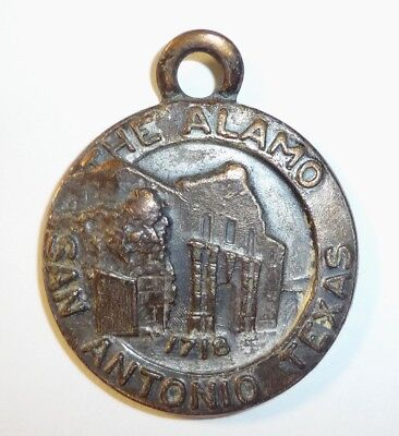 Vintage Brass or Bronze ALAMO Fob by Bates & Kunke