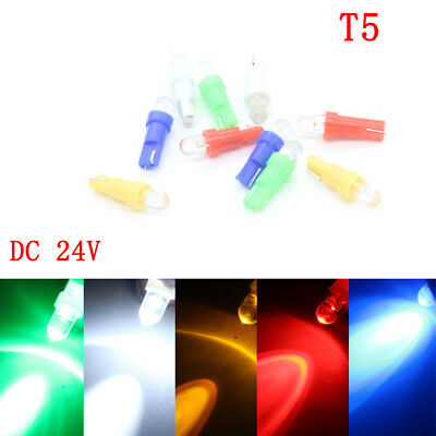 10x T5 1SMD LED BULB 286 Wedge Car Dashboard Dash Speedo Cig Lighter Lamp  DC24V