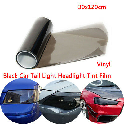30X 120CM Light Smoke Tinting Film Fog Tail Lights Headlights Tint Car Van Wrap