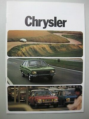 Simca Chrysler 160 180 2 Litres brochure Prospekt Dutch 1973 1974 16 pages
