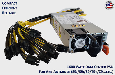 AMP1600X1 for Antminer S9/T9/A3 - Avalon 8xx - DragonMint T1